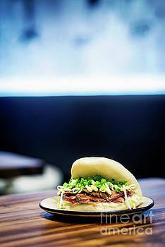 Pork Belly Bun Pao Traditional Chinese Snack Sandwich Food by Jacek Malipan