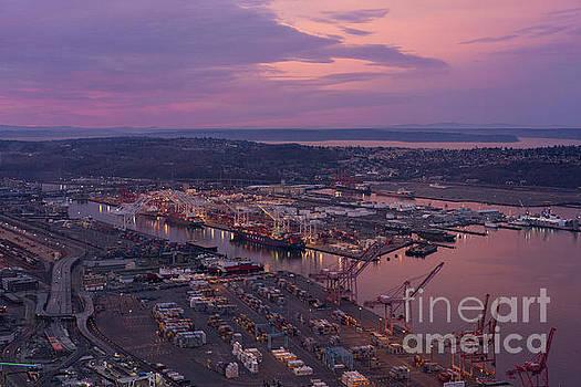 Port of Seattle Sunrise by Mike Reid