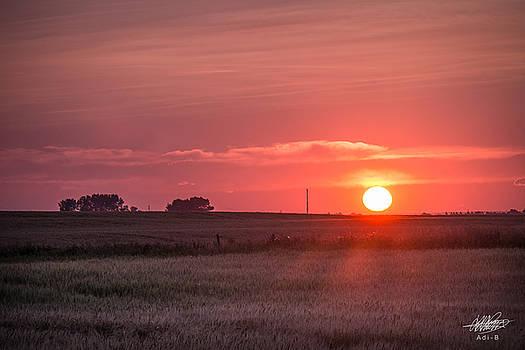 Prairie Sunset by Adnan Bhatti