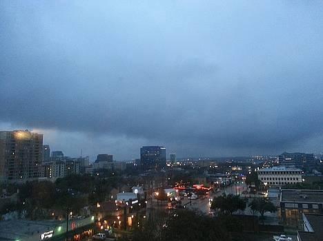 Rainy Night in Dallas by Shawn Hughes
