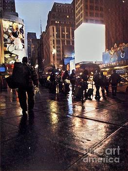 Rainy Night New York by Miriam Danar