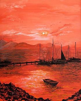 Red Sea Sunset by Jane Woodward