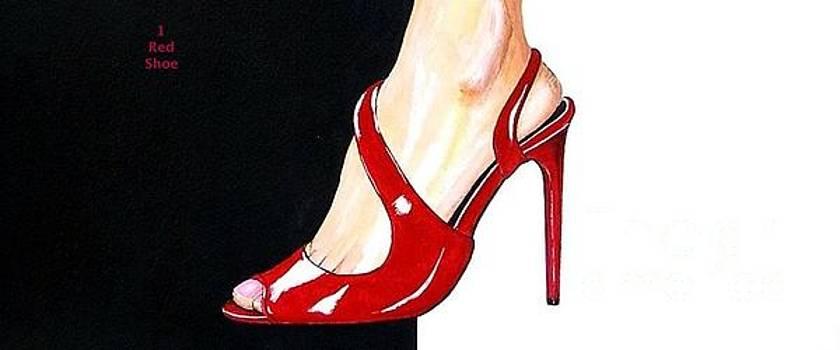 1 Red Shoe by Gordon Lavender