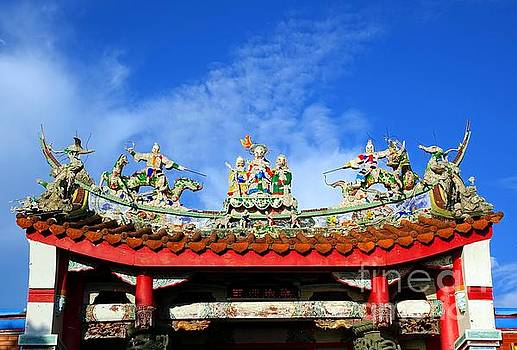 Richly Decorated Chinese Temple Roof by Yali Shi