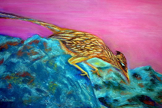 Roadrunner on Point  Pastel by Antonia Citrino
