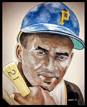 ROBERTO CLEMENTE - Watercolor Painting by Edwin Alverio