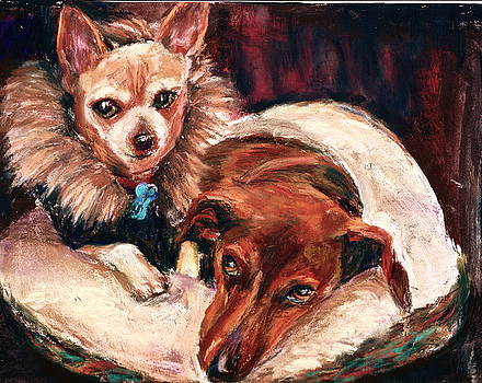 Rocky and Leo by Joan Wulff