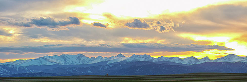 Rocky Mountain Lookout Sunset Gold Panorama by James BO Insogna