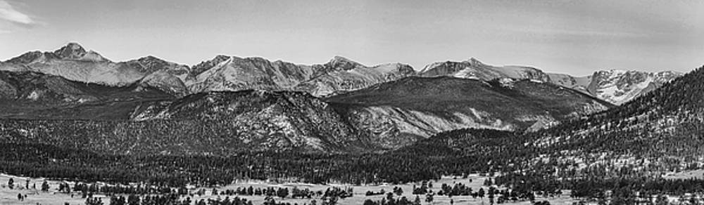 James BO  Insogna - Rocky Mountain National Park Panorama Black White