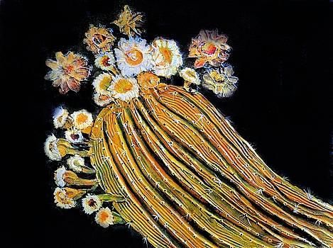 Saguaro  Blossoms by JAXINE Cummins