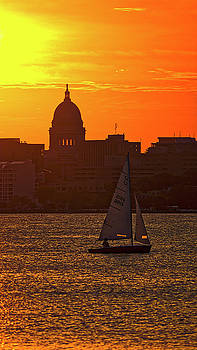 Sailing - Lake Monona - Madison - Wisconsin by Steven Ralser