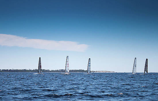 Sailing On The Bay by Debra Forand