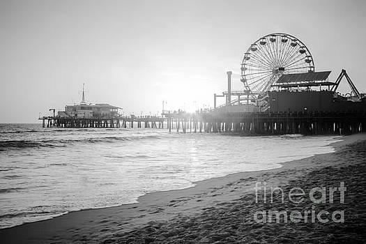 Paul Velgos - Santa Monica Pier Black and White Picture