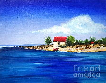 Sea Hill Boatshed - original sold by Therese Alcorn