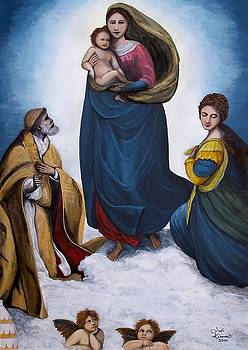 Sistine Madonna by Judy Kirouac