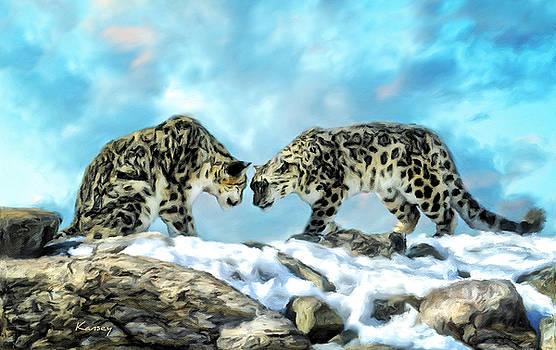 Snow Leopard by Johanne Dauphinais