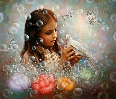 Soap Bubble Girl by Yoo Choong Yeul