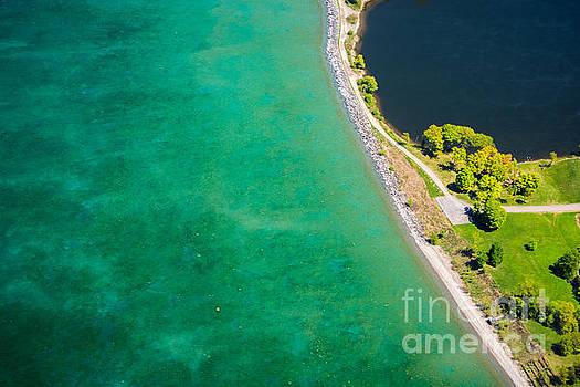 Lake Ontario Sodus Bay Aerial Photo by John Baumgartner