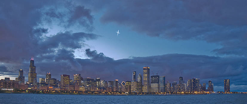 Star over Chicago by Jim Wright