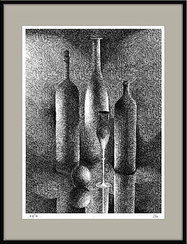 Still Life With Bottles by Zia Art