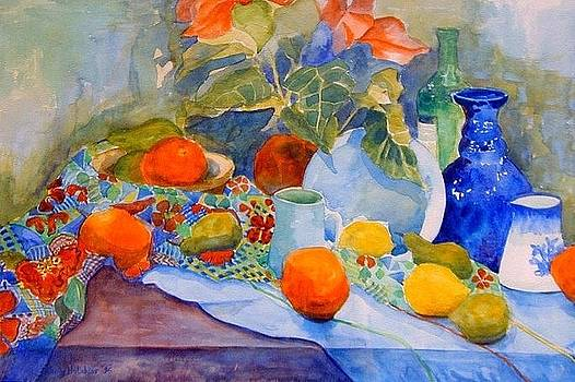 Still life with oranges by Wendy Head