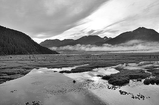 Sunrise along the Seward Highway - Alaska by Bruce Friedman