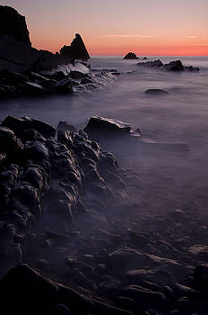 Sunset at Blegberry Beach by Pete Hemington