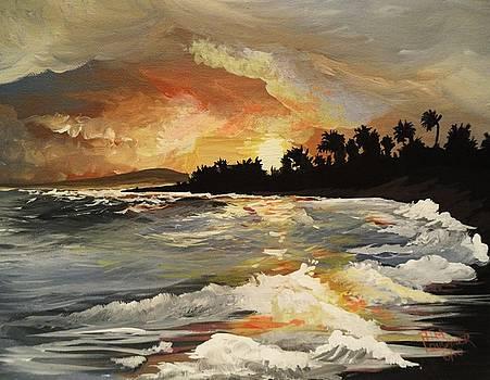 Sunset at Poipu Beach by Tim Loughner