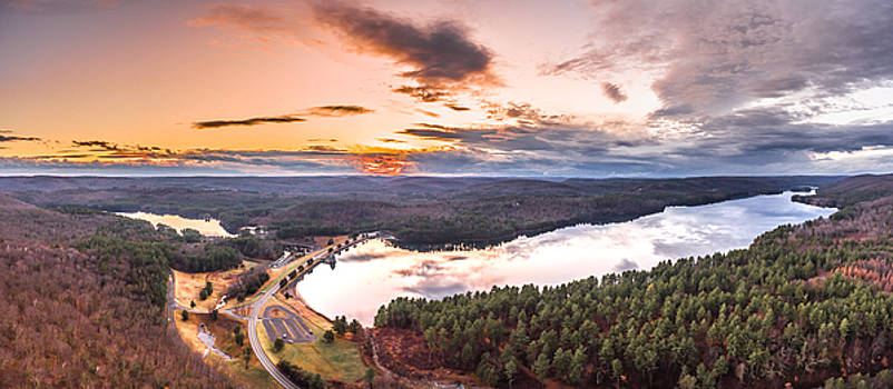 Sunset at Saville Dam - Barkhamsted Reservoir Connecticut by Petr Hejl