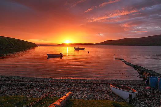 Sunset At Trondra Shetland by Anne Macdonald