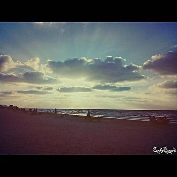Sunset On Port Said Beach  #portsaid by Eman Allam