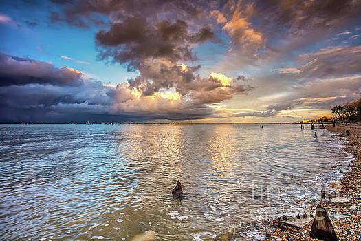 Sunset On Ryde Beach by English Landscapes