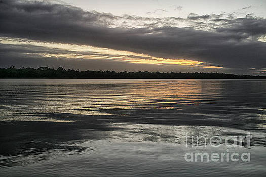 Sunset on the water by Patricia Hofmeester