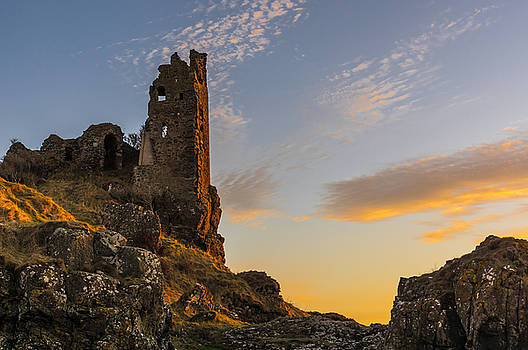 Dunure Castle At Sunset by Tylie Duff
