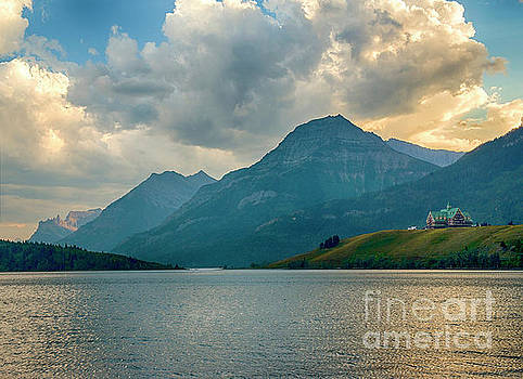 Sunset Over Waterton Lakes National Park by Yefim Bam