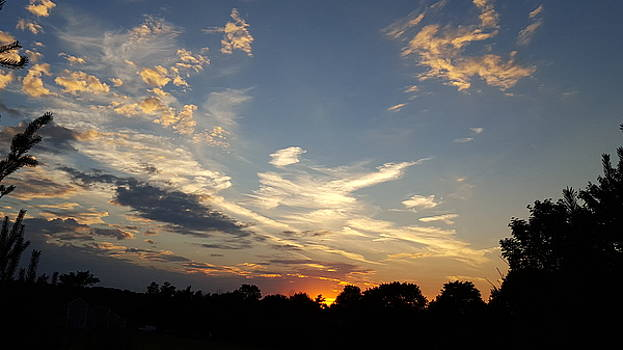 Sunset sky over Ohio by Maureen Ida Farley