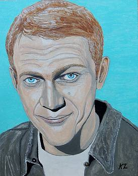 The king of cool.Steve McQueen. by Ken Zabel