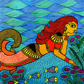 The Mermaid in Madhubani by Shishu Suman