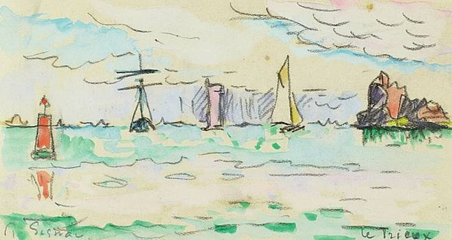 The Trieux by Paul Signac