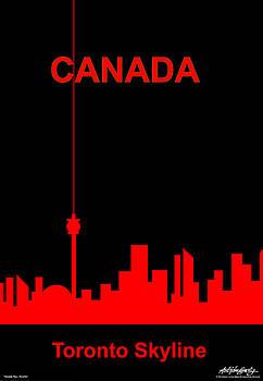 Toronto Skyline by Asbjorn Lonvig