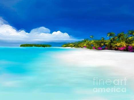 Tranquil beach by Anthony Fishburne
