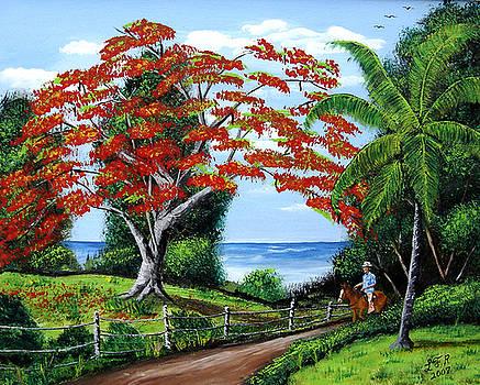 Tropical Landscape by Luis F Rodriguez