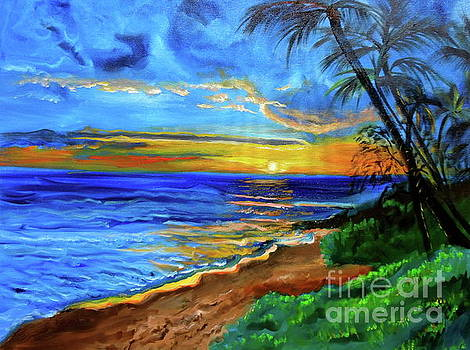 Tropical Sunset by Jenny Lee