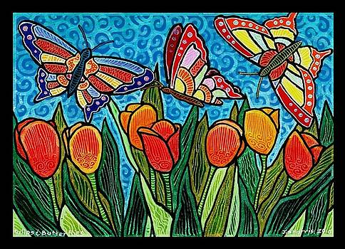 Tulips and Butterflies by Jim Harris
