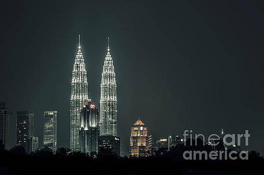 Twin Towers by Charuhas Images
