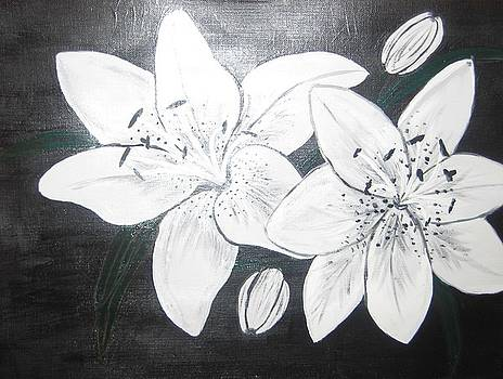 Two Lillies by Veronica Trotter