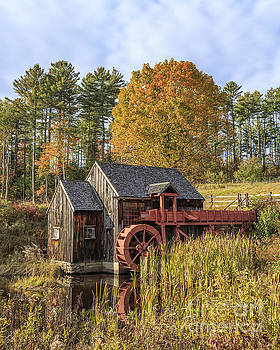 Vermont Grist Mill by Edward Fielding