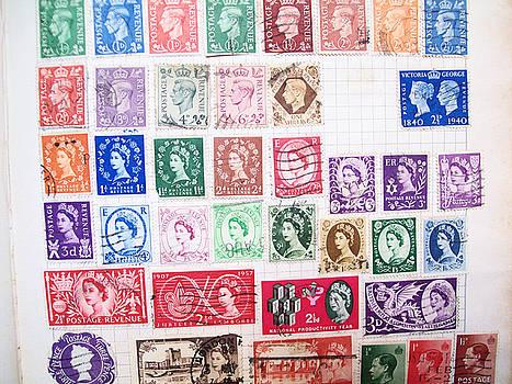 Vintage Stamps G.b. by Dawn Hay