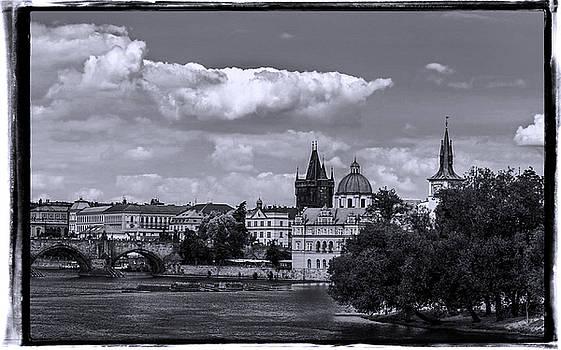 Vltava River, Smetana museum and Novotneho lavka in background by Doc Braham