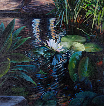 Water Garden Series -D by Patricia Reed